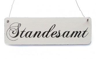 Vintage-Schild-Tuerschild-Dekoschild-STANDESAMT-Shabby-Rathaus-Hochzeit