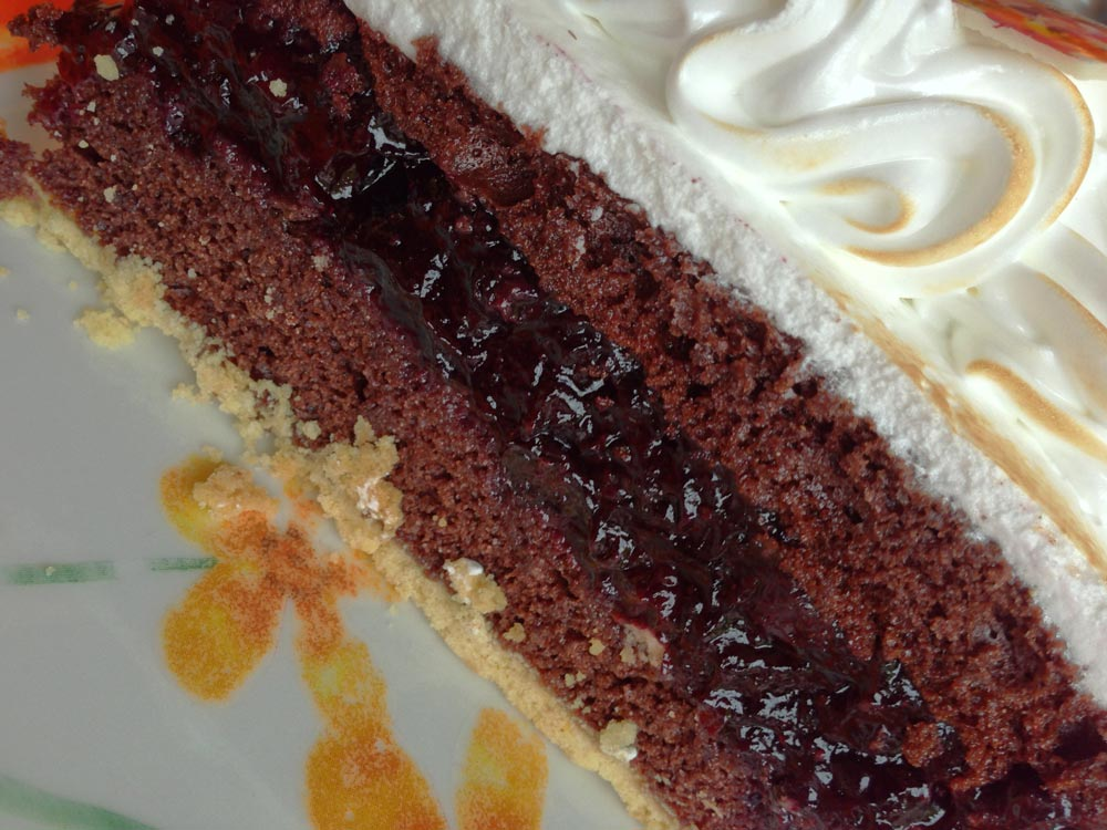 Die wunderbare Schoko-Blaubeer-Torte